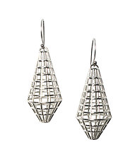 Grid Drop Earrings by Maria  Eife (Silver Earrings)