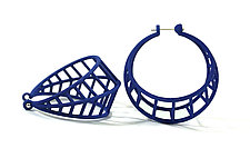 Basket Hoops by Maria  Eife (Nylon Earrings)