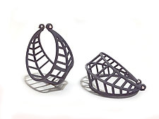 Basket Hoops by Maria  Eife (Nylon Earrings)