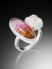 Two Part Ring by Carol Martin (Silver & Glass Ring)