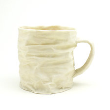 Horizontal Folds by Clementine Porcelain (Ceramic Mug)