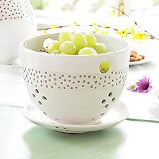 Ostrich Berry Bowl by Robert Siegel (Ceramic Bowl)