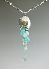 Large Pod with Gemstone Cluster by Catherine Grisez (Silver & Stone Necklace)
