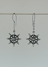 Siren Starfish Earrings by Catherine Grisez (Silver Earrings)