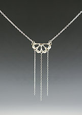 Semi Siren Necklace with Chain by Catherine Grisez (Silver Necklace)