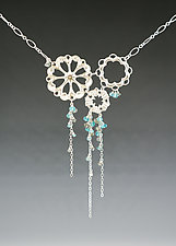 Silver and Blue Siren Necklace by Catherine Grisez (Silver & Stone Necklace)