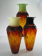Tall Safari Series Vase by David Leppla (Art Glass Vase)
