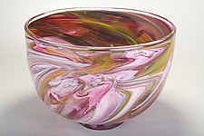 Big Marble Bowl by Bryan Goldenberg (Art Glass Bowl)