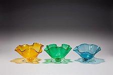 Seashell Bowls by Bryan Goldenberg (Art Glass Bowl)