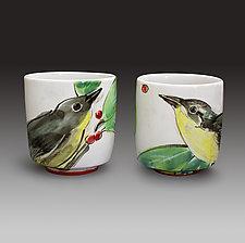 Nashville Warbler Cups by Eileen de Rosas (Ceramic Mugs)