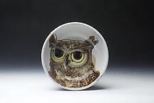Owl Bowl by Eileen de Rosas (Ceramic Bowl)