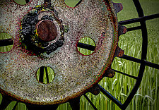 Wheel and Wheat by Geri Brown (Color Photograph)