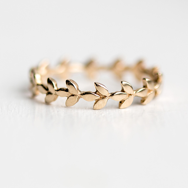 Vine Band in 14K Yellow Gold