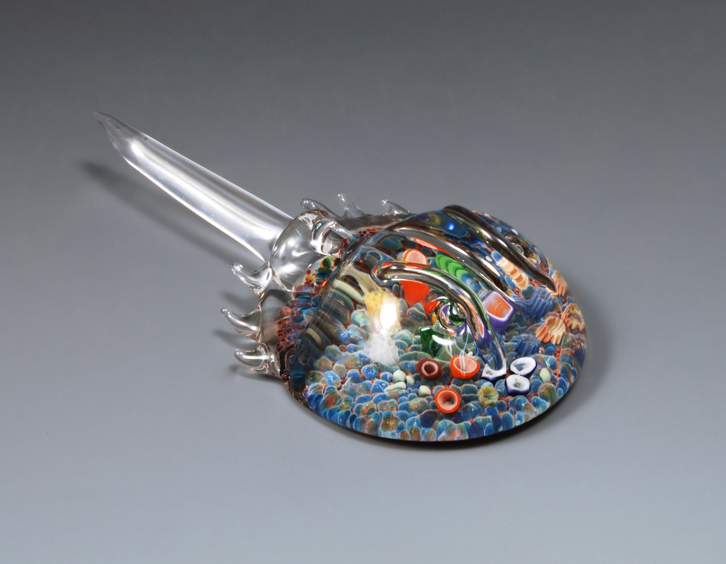 Sea Bottom Horseshoe Crab By Jeremy Sinkus Art Glass