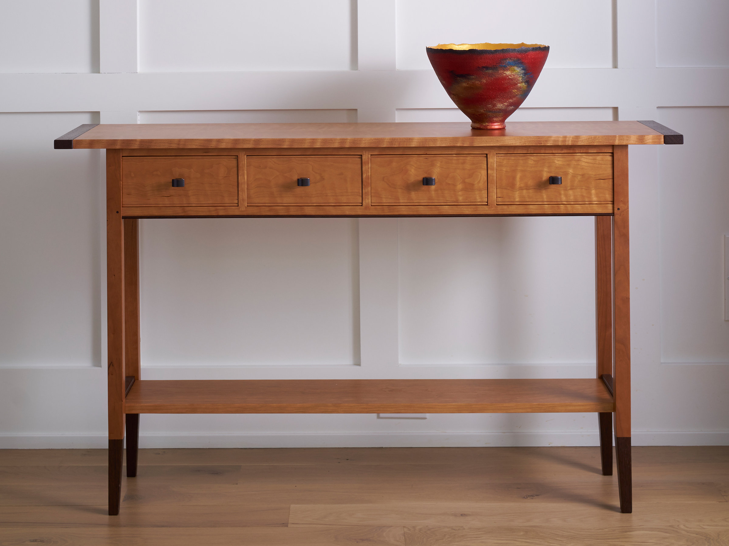 Solid Cherry Table By Tom Dumke Wood Console Table