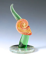 Ancient Spiral by Jeremy Sinkus (Art Glass Sculpture)