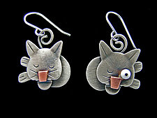 Cat Nap Earrings by Lisa and Scott  Cylinder (Metal Earrings)