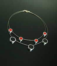 Calder Necklace by Melissa Stiles (Steel, Aluminum & Resin Necklace)