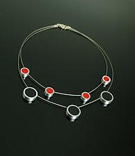 Calder Necklace by Melissa Stiles (Steel, Aluminum & Resin Necklace)