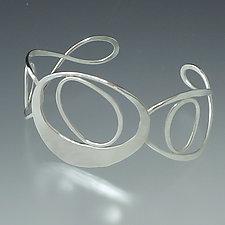 Stones Cuff Bracelet by Susan Panciera (Silver Bracelet)