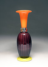 Rose Optic Stack by Scott Summerfield (Art Glass Vase)