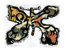 Butterfly Effect II by Ouida  Touchon (Woodcut Print)