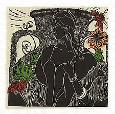 Wistful by Ouida  Touchon (Linocut Print)