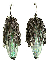 Calyx Earrings by Kate Rothra Fleming (Art Glass Earrings)