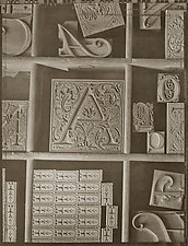 Type Drawer, 1992 by Mel Curtis (Black & White Photograph)