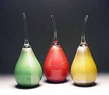 Silver Leaf Pears by Scott Summerfield (Art Glass Sculpture)