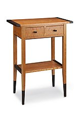 Cherry Two Drawer Hall Table by Tom Dumke (Wood Side Table)