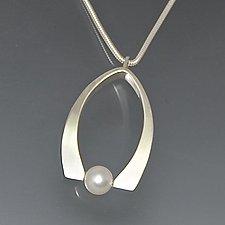 Wishbone Pearl Pendant by Susan Panciera (Silver & Pearl Necklace)