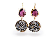 Bejeweled Hive Earrings by Shauna Burke (Gold, Silver & Stone Earrings)