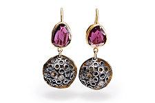 Bejeweled Hive Earrings by Shauna Burke (Gold, Silver & Stone Earrings)
