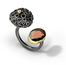 Bejeweled Hive Between The Finger Ring by Shauna Burke (Gold, Silver & Stone Ring)