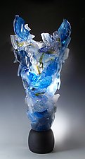 Blue Monument by Caleb Nichols (Art Glass Sculpture)