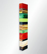 Earth Totem II by Gerald Davidson (Art Glass Wall Sculpture)