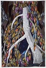 Lovely, Dark, and Deep by Linda Beach (Fiber Wall Hanging)
