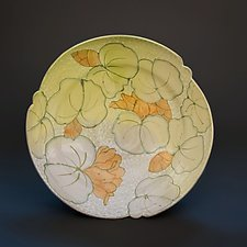 Platter with Lotus Pattern by Lauren Kearns (Ceramic Platter)