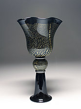 Black and Gold Vessel by Scott Summerfield (Art Glass Sculpture)