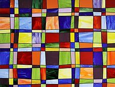 Glass Quilt by Gerald Davidson (Art Glass Wall Sculpture)
