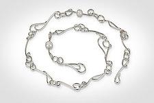 Vine Link Necklace and Bracelet by Susan Panciera (Silver & Pearl Jewelry)