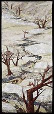 Old Woman Creek by Linda Beach (Fiber Wall Hanging)