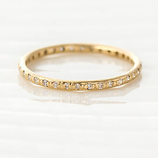 Round Diamond Eternity Band in 14k Yellow Gold by Melanie Casey (Gold & Stone Ring)