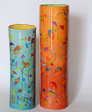 Satellite Vase Set by Rod  Hemming (Ceramic Vases)