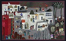 Around City Park by Pamela Allen (Fiber Wall Hanging)