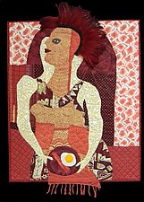 Breakfast with Bedhead by Pamela Allen (Fiber Wall Hanging)