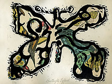 Butterfly Effect I by Ouida  Touchon (Woodcut Print)