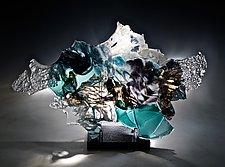 Kingfish by Caleb Nichols (Art Glass Sculpture)