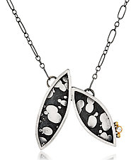 Two Leaf Necklace by Patty Schwegmann (Gold, Silver & Stone Necklace)